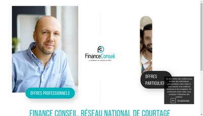 Site internet de Finance Conseil