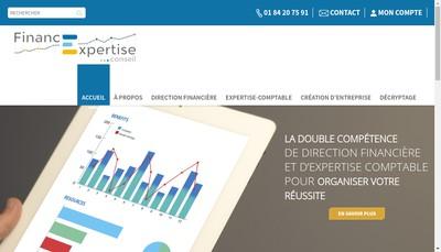 Site internet de Financexpertise Conseil