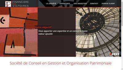 Site internet de Financiere des Victoires