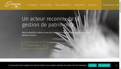 Site internet de La Financiere du Palais