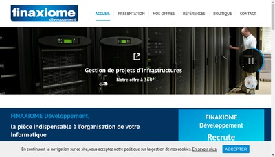 Site internet de Finaxiome Developpement