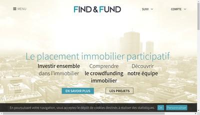 Site internet de Find & Fund