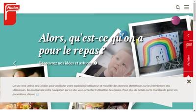 Site internet de Findus Holding France SAS