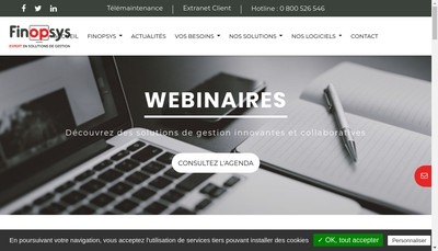 Site internet de Finopsys Formation