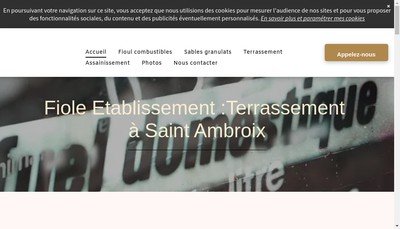 Site internet de Fiole Etablissements