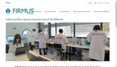 Site internet de Firmus France