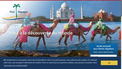 Site internet de First Voyages France