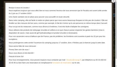 Site internet de Camping le Fiscalou