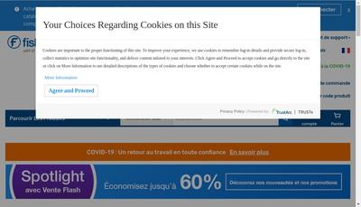 Site internet de Fisher Scientific SAS