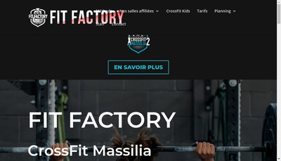 Site internet de Fit Factory Marseille