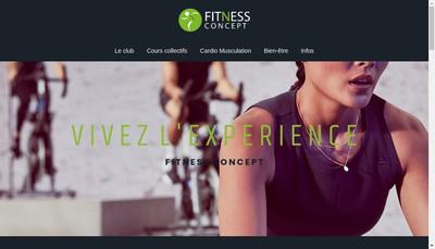 Site internet de Fitness Concept