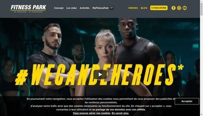 Site internet de Fitness Park Gaillard