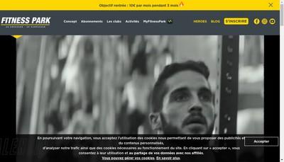 Site internet de Fitness Park