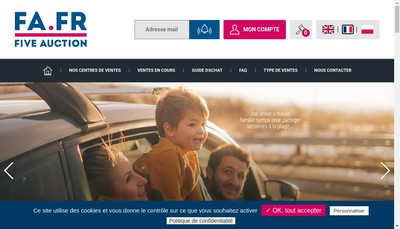 Site internet de Nord Encheres