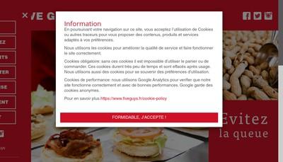 Site internet de Five Guys France