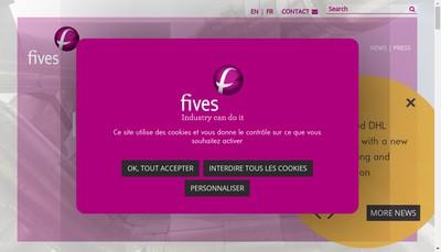 Site internet de Fives Dms