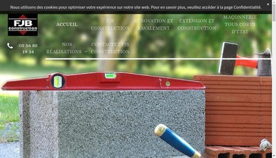 Site internet de FJB Construction