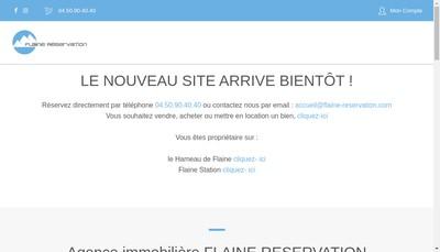 Site internet de Flaine Reservation
