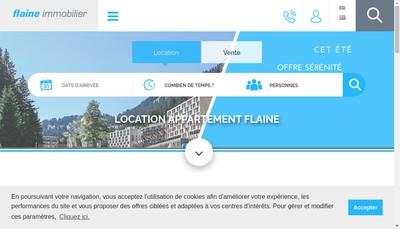 Site internet de Flaine Immobilier