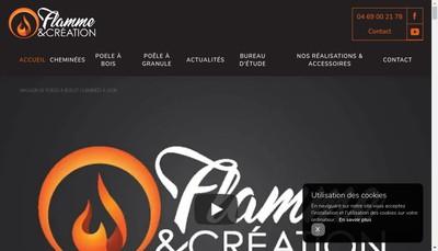 Site internet de Flamme et Creation