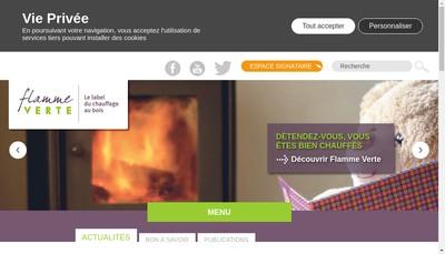 Site internet de Flamme-Verte
