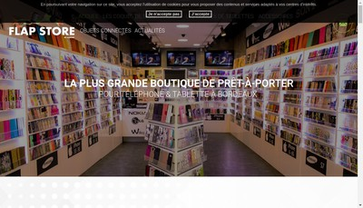 Site internet de Flap Store By Karine