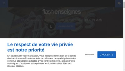 Site internet de Flash Enseigne
