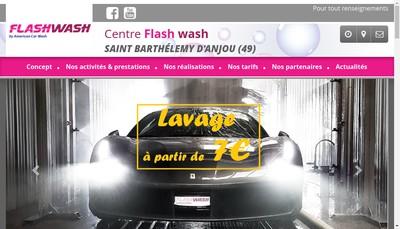Site internet de Flash Wash