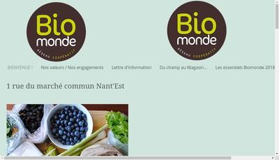 Site internet de Fleuron Bio