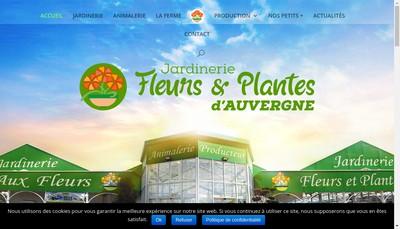 Site internet de Fleurs et Plantes d'Auvergne