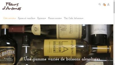 Site internet de Fleurs d'Aromes