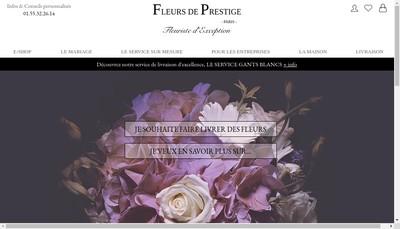 Site internet de Fleurs de Prestige