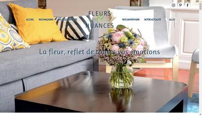 Site internet de Fleurs et Nuances