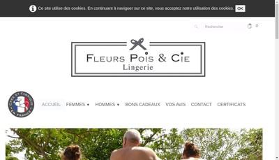 Site internet de Fleurs Pois &Cie