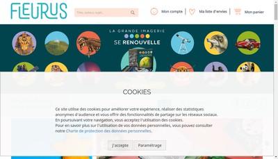 Site internet de Fleurus Editions
