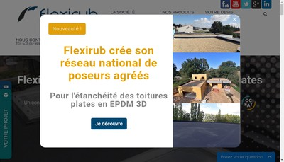 Site internet de Flexirub