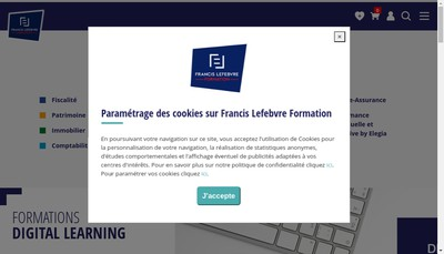 Site internet de Francis Lefebvre Formation - FLF