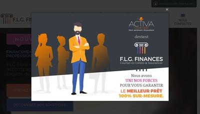 Site internet de FLG Finances