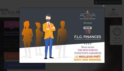 Site internet de Activa Courtage