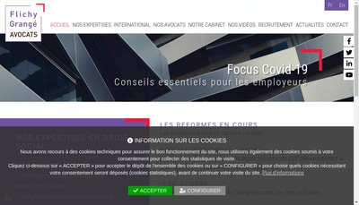 Site internet de Flichy Grange Avocats