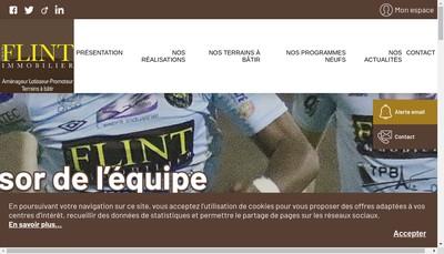 Site internet de Groupe Flint Immobilier