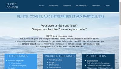 Site internet de Flints Conseil EURL
