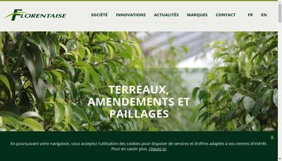 Site internet de Florentaise Pro