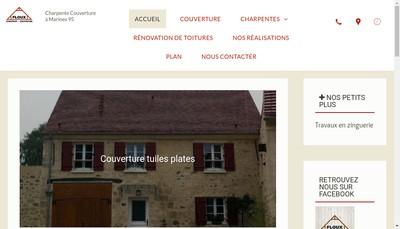 Site internet de Floux Charpente Couverture
