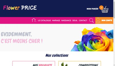 Site internet de Flowerprice