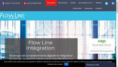 Site internet de Flow Line Integration