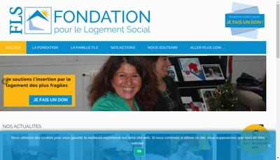 Site internet de Fondation pour le Logement Social