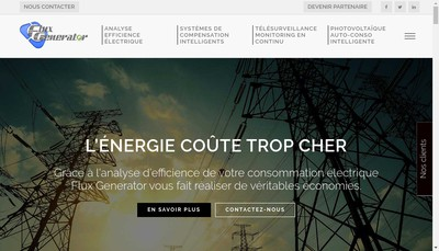 Site internet de Flux Generator SARL