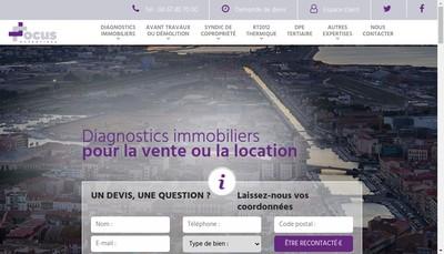 Site internet de Focus Expertises
