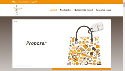 Site internet de Focus Shopper